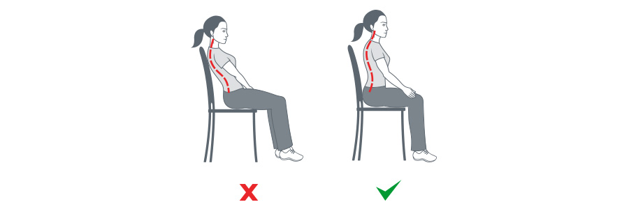 Seating posture is vital to preventing tension headaches